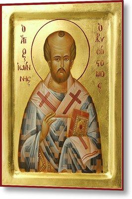 St John Chrysostom Metal Print by Julia Bridget Hayes