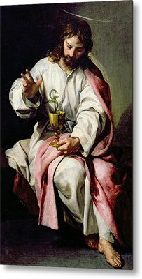 St. John The Evangelist And The Poisoned Cup Metal Print