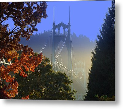 St. Johns Bridge Metal Print by DerekTXFactor Creative