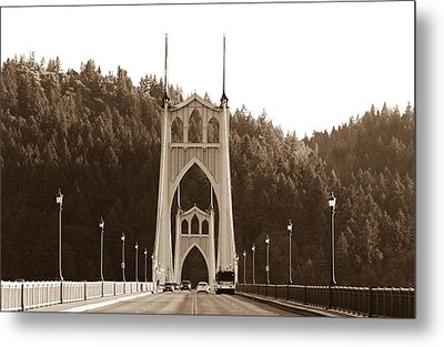 St. John's Bridge Metal Print by Patricia Babbitt