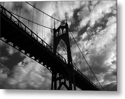 St Johns Bridge Metal Print by Wes and Dotty Weber
