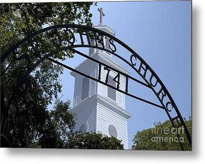 Metal Print featuring the digital art St. John's by Kelvin Booker
