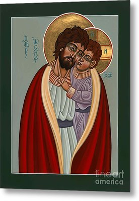 Metal Print featuring the painting St. Joseph And The Holy Child 239 by William Hart McNichols