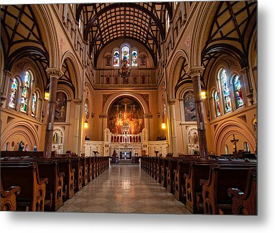St. Joseph Church - New Orleans Metal Print by Andy Crawford