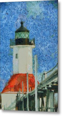 St. Joseph Lighthouse Lake Michigan Metal Print by Dan Sproul
