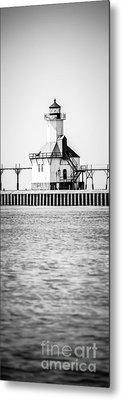 St. Joseph Lighthouse Vertical Panoramic Photo Metal Print by Paul Velgos