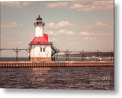 St. Joseph Lighthouse Vintage Picture  Photo Metal Print by Paul Velgos