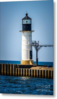 St. Joseph Outer Lighthouse Photo Metal Print by Paul Velgos