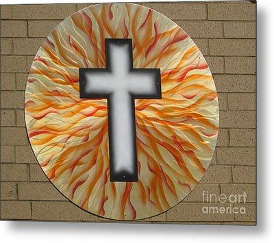 St. Josephs Cross Metal Print by Rick Roth