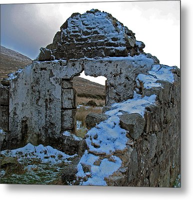 Metal Print featuring the photograph St Kevin's Window by Kathleen Scanlan