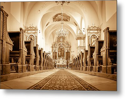 St Laszlo Roman Catholic Church Oradea Romania Metal Print by Nick Mares