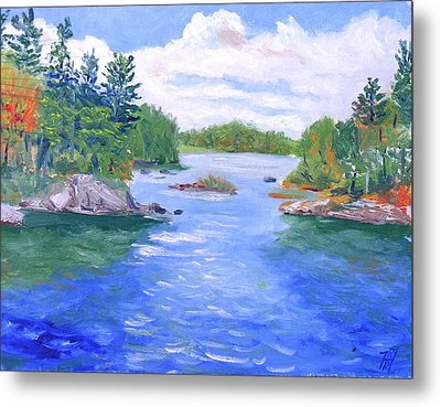 St Lawrence River-view From Waterson State Park Metal Print by Robert P Hedden