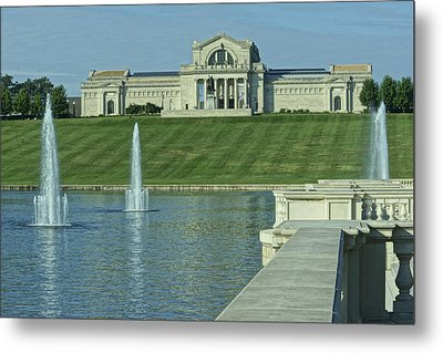 St Louis Art Museum And Grand Basin Metal Print by Greg Kluempers