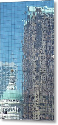 St. Louis Bldg Reflections Metal Print