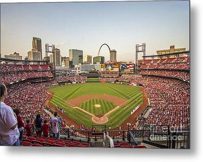 St. Louis Cardinals National Anthem Metal Print by David Haskett