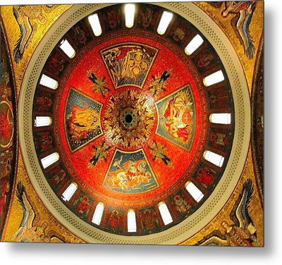 St. Louis Cathedral Dome Metal Print