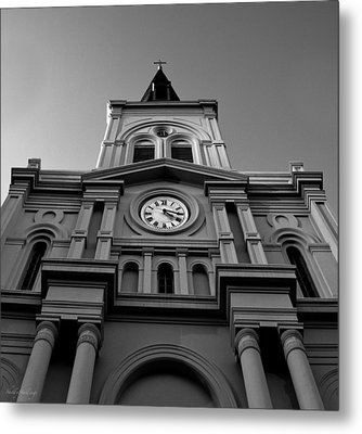 Metal Print featuring the photograph St. Louis Cathedral Perspective by Shelly Stallings