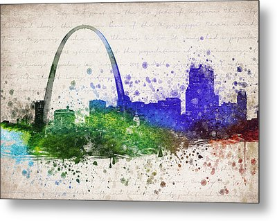 St Louis In Color Metal Print by Aged Pixel