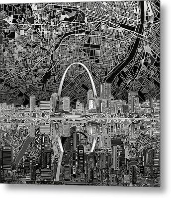 St Louis Skyline Abstract 2 Metal Print