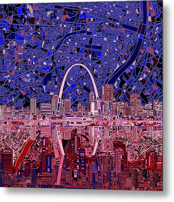 St Louis Skyline Abstract 6 Metal Print
