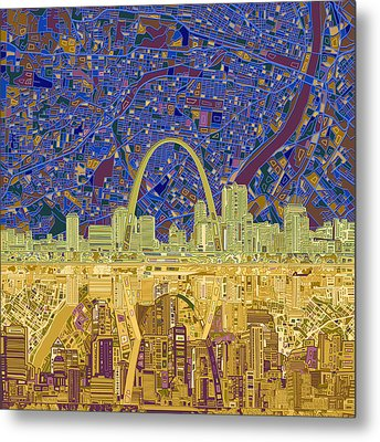 St Louis Skyline Abstract 9 Metal Print