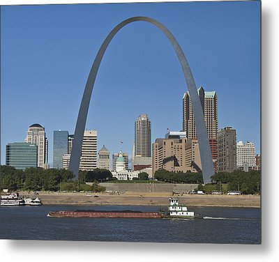St Louis Skyline Metal Print by Garry McMichael