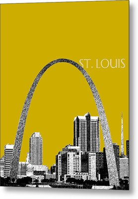 St Louis Skyline Gateway Arch - Gold Metal Print by DB Artist