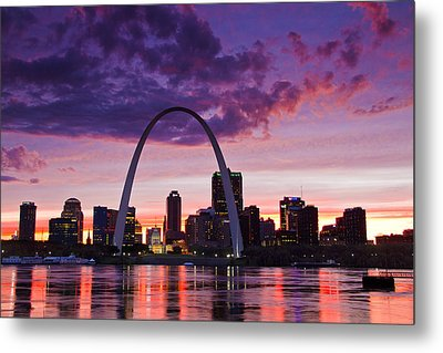 St Louis Sunset Metal Print by Garry McMichael