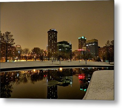 St. Louis - Winter At The Arch 007 Metal Print by Lance Vaughn