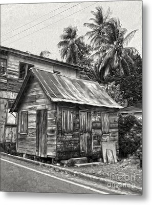 St Lucia - Old Shack Metal Print by Gregory Dyer