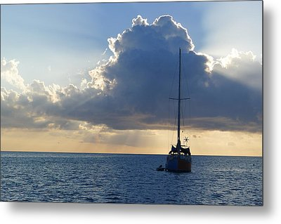 St. Lucia - Cruise - Sailboat Metal Print by Nora Boghossian