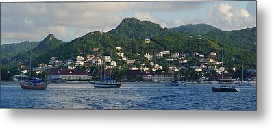 St. Lucia - Cruise - Three Boats Metal Print by Nora Boghossian
