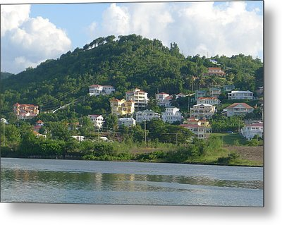 St. Lucia - Cruise View  Metal Print by Nora Boghossian
