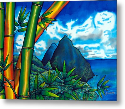 St. Lucia Pitons Metal Print
