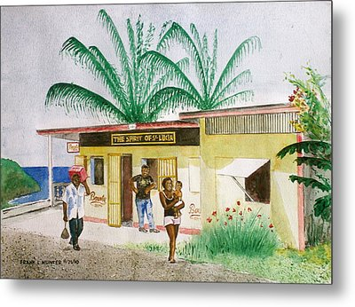 St. Lucia Store Metal Print by Frank Hunter
