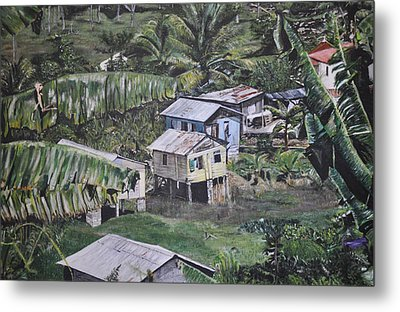 Metal Print featuring the painting St Lucian Spot by Dottie branchreeves