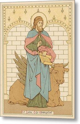 St Luke The Evangelist Metal Print by English School