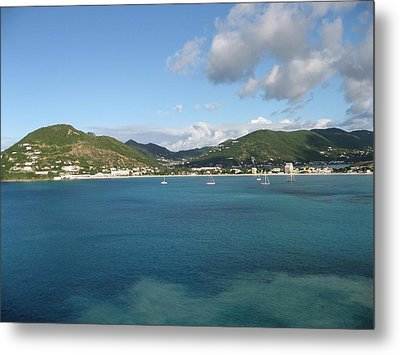 St Maarten At A Distance Metal Print by Jean Marie Maggi