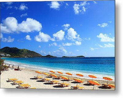 St. Maarten Calm Sea Metal Print