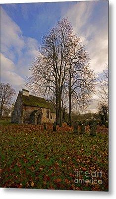 St Margaret Of Antiochs Church Linstead Metal Print by Darren Burroughs