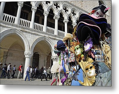 St Mark Square By Doges Palace Metal Print by Sami Sarkis