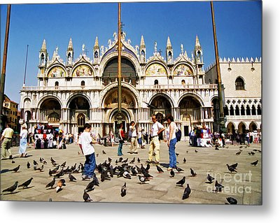 Metal Print featuring the photograph St. Mark's Basilica  by Allen Beatty