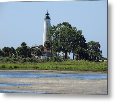 St Marks Lighthouse Metal Print by Marilyn Holkham