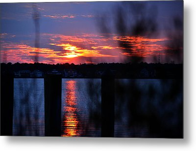 Metal Print featuring the photograph St. Marten River Sunset by Bill Swartwout