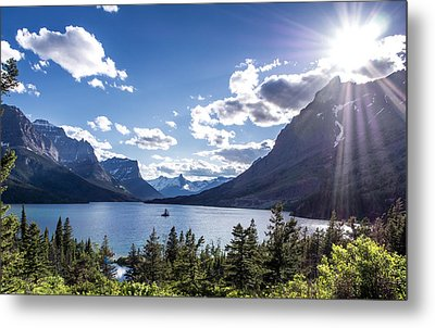 St. Mary Lake Metal Print by Aaron Aldrich