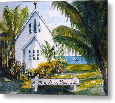 St Marys By The Sea - Original Sold Metal Print by Therese Alcorn