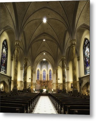 Metal Print featuring the photograph St Mary's Catholic Church by Lynn Geoffroy
