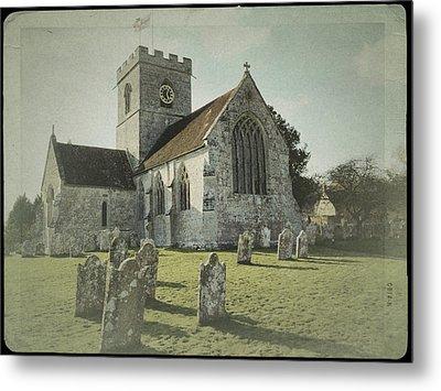 St Marys Church Dinton And Churchyard Metal Print