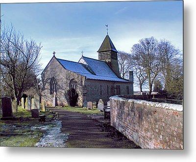 St Marys Church Raskelf Metal Print by Trevor Kersley