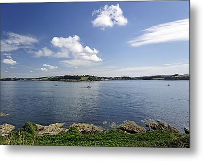 St Mawes From Pendennis Point Metal Print by Rod Johnson